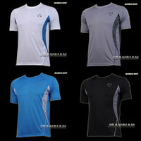 Wholesale Designer Mens Sports Quick Dry Stretch T Shirts Top Tee Stylish S M L XL LSL011