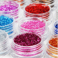bead dust - Whole Sale of x Colors Glitter Dust Powder Set for Nail Art Tip Decoration Makeup Body
