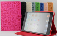 Wholesale 10pcs Lovely Magic girl Leather Case with stand Pu Case for iPad mini by ems