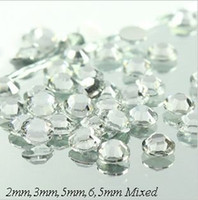 Wholesale 2012 mm mm mm mm Mixed Size Flat Back Bling Bling Clear Acrylic Beads Rhinest