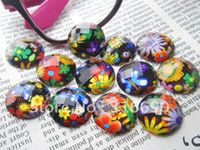 Nail Art 3D Decoration acrylic round ornament - mm mixed flower pattern round acrylic diamond for DIY ornament