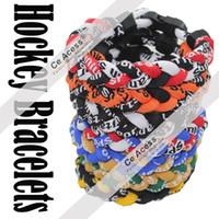 Unisex cheer gifts - Titanium Energy Balance National Hockey League Team Colored Cheer Bracelet Various Color Option Size