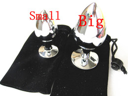 Wholesale Stainless steel Anus Butt Anal Plug Toy for women and men XLY1067 XLY1068