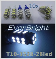 Wholesale 10X T10 Car High Power W5W SMD Led Wedge Light Signal Bulbs Dome lights white blue