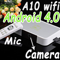 Wholesale Android TV box with remote controller Android with camera mic A10 wifi