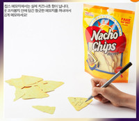 Wholesale Fun Cheese Potato Chips Korean Sticky Notes Point It Marker Memo Flags Post It