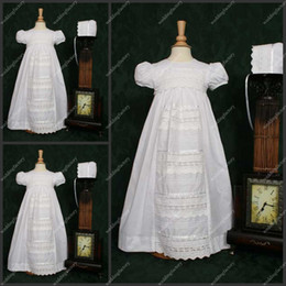 Wholesale Taffeta White Lace Babies First Communion Dresses A Line Floor Length Special Christening Gowns