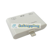 Wholesale For iPad mini iPad in1 USB camera connection kit TF SD card reader adapter white w packing