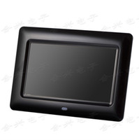 Wholesale 7 inch TFT LCD ultra thin digital photo frame with retail package MP3 MP4 AVI languages colros