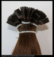 "brown straight 1.0g 100s Italian keratin remy human hair flat tip hair extensions #4 medium brown 18"" 100g set 1g s"