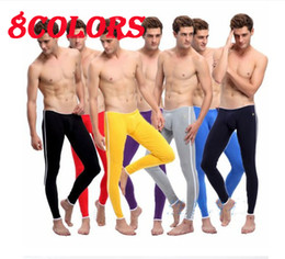 Wholesale 8 clolrs Fashion New Cotton Sexy Mens Thermal Underwear Pants Long Johns Size M L