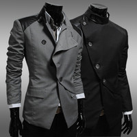 Wholesale 2013 new design men s business suits lapel long sleeve single breasted slim suit spring outwear