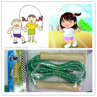 Wholesale Sport Exercise School Wooden Handle Skipping Rope Outdoor Toy Children Kid Fitness Exercise Speed Jump Outdoor