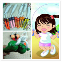 Wholesale Cute Nice Cartoon Animals New Children s Kids Skipping Jump rope with Wooden Frog Monkey Handles