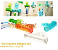 Wholesale Colorful Plastic Rolling Toothpaste Tube Squeezer Dispenser Easy