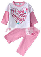 Girl Spring / Autumn 100% Cotton Girls Wear Baby Clothing Toddler Casual Pants Baby Girl Suit Outfits Long Sleeve T Shirt Infant Sets