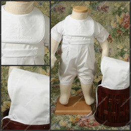 Wholesale Christening Gowns with Hat Taffeta Short Sleeve One piece Simple Babies First Communion Dresses