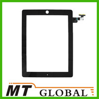Wholesale For iPad Touch Screen Panel Glass Replacement With Digitizer With Home Button White Black Color High Quality