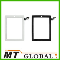 Wholesale For iPad Touch Screen Panel Glass Replacement With Digitizer With Home Button White Black Two Color High Quality