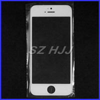 Wholesale For iPhone5 Front Outer Glass Lens Touch Screen Cover for iphone repair parts black white