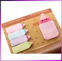 Wholesale Milk Bottle Sticker Post It Bookmark Point It Marker Memo Flags Sticky Notes