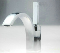 bathroom faucet finishes - Waterfall Bathroom Chrome Finish Basin Sink Mixer Tap Brass Faucet NC