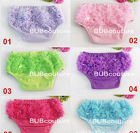 Wholesale Baby Toddlers Frilly Satin Knickers Pants Ruffle Panties Pettiskirt Shorts Bloomer Diaper