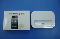 Wholesale Black and white G dock charger with sync data for iphone5 iphone G with paper box package