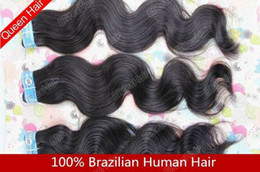 Wholesale Retail Brazilian Hair quot quot Hair Weft Weave Color B Human Virgin Hair Body Wavy BHW005