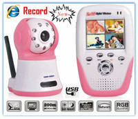 Wholesale New GHZ Wireless Digital video Camera quot LCD Baby Monitor SD Card Recording Quad Internet View