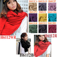 Wholesale Stylish Winter Women Men Lady Unisex scarf Knit Long Warm soft scraves colors Wrap Shawl H6012
