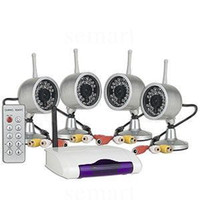 Wholesale Wireless CCTV Camera Kit Home Security DVR System IR Night Vision Waterproof Cam With Remote C