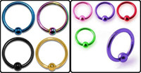 Wholesale Pretty Anodized Captive Bead Ring BCR Nipple Labret Lip Nose Ring Piercing Body Jewelry