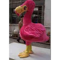 pink flamingos - Flamingo Mascot Costume Characters Costume Halloween Kids Party Gift Dress