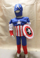 Wholesale royalblue years Party Kids Comic Marvel Captain America Muscle Halloween Costume boy roll play