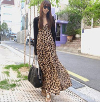 Wholesale Women Dress sexy Fashion Dresses leopard print long dress women jumpsuit new dress women