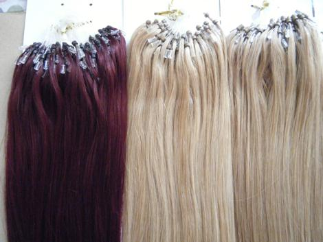 Remy hair extensions for micro loop