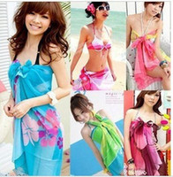 Wholesale Sexy Pareo Dress Sarong Bikini Cover Up Scarf Wrap Swim swimwear Beach Beautiful Charming