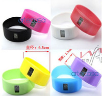 Wholesale 1000pcs Silicon Sport Dive Watch Ion Candy Jelly Watch Digital Watches Anion Wrist Wa