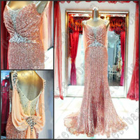 Wholesale 2013 Dazzing crystals Sexy sequins Mother of the Bride dress evening dress party gown prom dresses