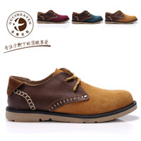 Cheap Free shipping Top quality Autumn and winter goodge family british style suede casual shoes trend low popular men's
