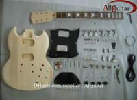 Cuerpo inacabado de la guitarra eléctrica del SG de la caoba del cuerpo de la guitarra con todas las piezas envío libre