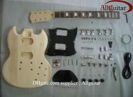 Cuerpo inacabado de la guitarra eléctrica del SG de la caoba del cuerpo de la guitarra con todas las piezas envío libre desde cuerpo sg fabricantes