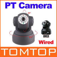 Wholesale Promotion All in One IR LED PT Dual Audio Nightvision Wired IP Camera freeshipping