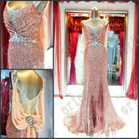 Spaghetti mother of the bride sequin dresses - 2013 Dazzing Beaded Sexy sequins Mother of the Bride dress evening dress party gown prom dresses