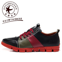 Men Cotton Fabric Rubber Top quality Goodge family fashion male casual shoes caterpillar men's cowhide low-top shoes outdoor casual shoes