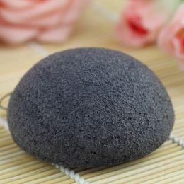 Wholesale 100pcs Make up Puff colors Natural Charcoal Konjac Facial Sponge Facial Wash Cleaning Puff