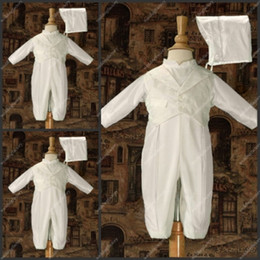 Wholesale Long Sleeve Baby Romper White Ankle Length Taffeta Christening Cloth One piece First Communion Gowns