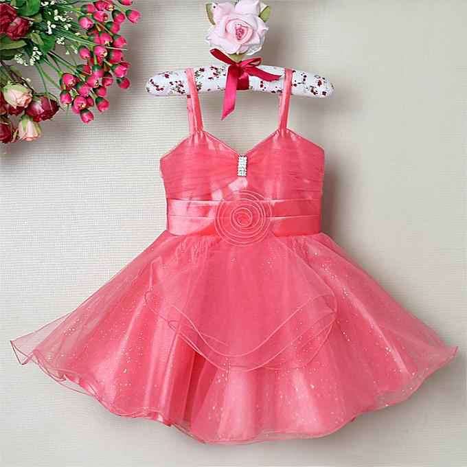 Sleeveless Baby Girl Party Dress With Diamond Girl Dancing Dress ...