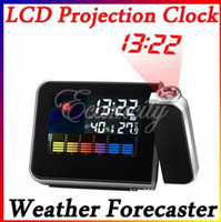 Digital   Digital LCD Projection Clock Alarm Calendar Weather Forecast Station Humidity
